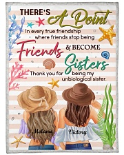 """There's A Point In Every True Friendship Custom Large Fleece Blanket - 60"""" x 80"""" front"""
