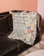 """In Blanket I'm Sending Lot Of Love Mom To Daughter Small Fleece Blanket - 30"""" x 40"""" aos-coral-fleece-blanket-30x40-lifestyle-front-05a"""