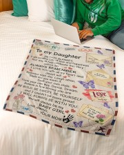 """In Blanket I'm Sending Lot Of Love Mom To Daughter Small Fleece Blanket - 30"""" x 40"""" aos-coral-fleece-blanket-30x40-lifestyle-front-07a"""