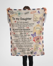 """In Blanket I'm Sending Lot Of Love Mom To Daughter Small Fleece Blanket - 30"""" x 40"""" aos-coral-fleece-blanket-30x40-lifestyle-front-14a"""