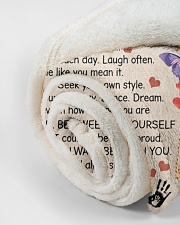 """In Blanket I'm Sending Lot Of Love Mom To Daughter Small Fleece Blanket - 30"""" x 40"""" aos-coral-fleece-blanket-30x40-lifestyle-front-18"""