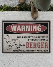 """Berger this property is protected Doormat 22.5"""" x 15""""  aos-doormat-22-5x15-lifestyle-front-01"""