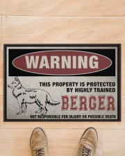 """Berger this property is protected Doormat 22.5"""" x 15""""  aos-doormat-22-5x15-lifestyle-front-02"""