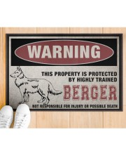 """Berger this property is protected Doormat 22.5"""" x 15""""  aos-doormat-22-5x15-lifestyle-front-03"""