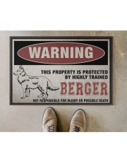 """Berger this property is protected Doormat 22.5"""" x 15""""  aos-doormat-22-5x15-lifestyle-front-04"""