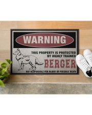 """Berger this property is protected Doormat 22.5"""" x 15""""  aos-doormat-22-5x15-lifestyle-front-12"""