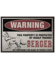 """Berger this property is protected Doormat 22.5"""" x 15""""  front"""