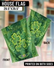 "Lucky Shamrock Magic Hat 29.5""x39.5"" House Flag aos-house-flag-29-5-x-39-5-ghosted-lifestyle-07"
