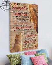 Never Forget That I Love You Lion Dad To Daughter 20x30 Gallery Wrapped Canvas Prints aos-canvas-pgw-20x30-lifestyle-front-02