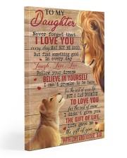 Never Forget That I Love You Lion Dad To Daughter 20x30 Gallery Wrapped Canvas Prints front