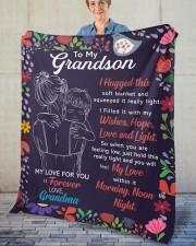 "I Hugged This Soft Blanket - Grandma To Grandson Fleece Blanket - 50"" x 60"" aos-coral-fleece-blanket-50x60-lifestyle-front-02"