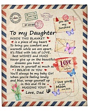 """Inside This Blanket Is A Piece Dad To Daughter Fleece Blanket - 50"""" x 60"""" front"""