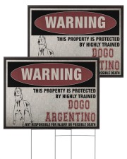 Dogo dog this property is protected 24x18 Yard Sign aos-yard-sign-24x18-ghosted-front-03