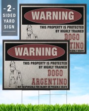 Dogo dog this property is protected 24x18 Yard Sign aos-yard-sign-24x18-lifestyle-front-32