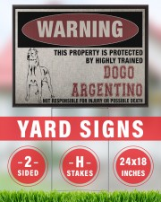 Dogo dog this property is protected 24x18 Yard Sign aos-yard-sign-24x18-lifestyle-front-33