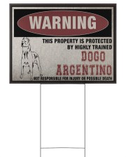 Dogo dog this property is protected 24x18 Yard Sign front