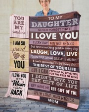 """Never Forget That I Love You Mom To Daughter Fleece Blanket - 50"""" x 60"""" aos-coral-fleece-blanket-50x60-lifestyle-front-02"""