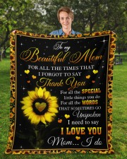 """For All The Times I Forgot To Say Thank You To Mom Fleece Blanket - 50"""" x 60"""" aos-coral-fleece-blanket-50x60-lifestyle-front-01a"""