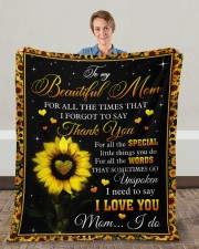 """For All The Times I Forgot To Say Thank You To Mom Fleece Blanket - 50"""" x 60"""" aos-coral-fleece-blanket-50x60-lifestyle-front-01c"""