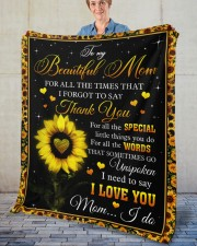 """For All The Times I Forgot To Say Thank You To Mom Fleece Blanket - 50"""" x 60"""" aos-coral-fleece-blanket-50x60-lifestyle-front-02"""