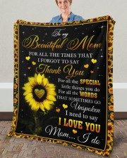 """For All The Times I Forgot To Say Thank You To Mom Fleece Blanket - 50"""" x 60"""" aos-coral-fleece-blanket-50x60-lifestyle-front-02a"""