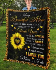 """For All The Times I Forgot To Say Thank You To Mom Fleece Blanket - 50"""" x 60"""" aos-coral-fleece-blanket-50x60-lifestyle-front-02b"""