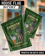"""American By Birth Irish By The Grace Of God 29.5""""x39.5"""" House Flag aos-house-flag-29-5-x-39-5-ghosted-lifestyle-07"""