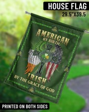 """American By Birth Irish By The Grace Of God 29.5""""x39.5"""" House Flag aos-house-flag-29-5-x-39-5-ghosted-lifestyle-13"""
