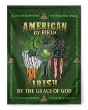 """American By Birth Irish By The Grace Of God 29.5""""x39.5"""" House Flag front"""