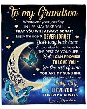 "Wherever Your Journey In Life To Grandson Fleece Blanket - 50"" x 60"" front"