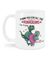 Personalized Name Thank you for all the roargasms Mug back