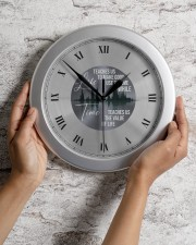 Life Teaches Us To Make Good Use Of Time Wall Clock aos-wall-clock-lifestyle-front-02
