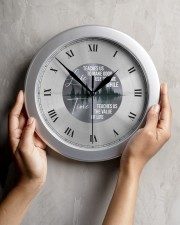 Life Teaches Us To Make Good Use Of Time Wall Clock aos-wall-clock-lifestyle-front-04