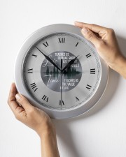 Life Teaches Us To Make Good Use Of Time Wall Clock aos-wall-clock-lifestyle-front-05
