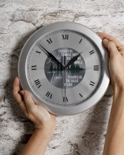 Life Teaches Us To Make Good Use Of Time Wall Clock aos-wall-clock-lifestyle-front-07