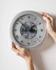 Life Teaches Us To Make Good Use Of Time Wall Clock aos-wall-clock-lifestyle-front-09