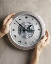 Life Teaches Us To Make Good Use Of Time Wall Clock aos-wall-clock-lifestyle-front-11