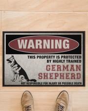 "german this property is protected Doormat 22.5"" x 15""  aos-doormat-22-5x15-lifestyle-front-02"