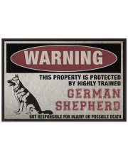 "german this property is protected Doormat 22.5"" x 15""  front"
