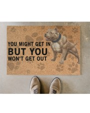 """pitbull you might get in Doormat 22.5"""" x 15""""  aos-doormat-22-5x15-lifestyle-front-04"""