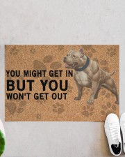"""pitbull you might get in Doormat 22.5"""" x 15""""  aos-doormat-22-5x15-lifestyle-front-06"""