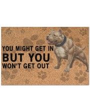 """pitbull you might get in Doormat 22.5"""" x 15""""  front"""