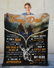 """It's Not Easy For A Man To Raise A Child To Dad Fleece Blanket - 50"""" x 60"""" aos-coral-fleece-blanket-50x60-lifestyle-front-01"""