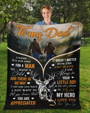 """It's Not Easy For A Man To Raise A Child To Dad Fleece Blanket - 50"""" x 60"""" aos-coral-fleece-blanket-50x60-lifestyle-front-01a"""