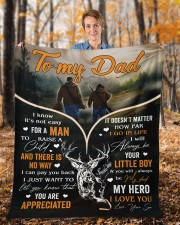 """It's Not Easy For A Man To Raise A Child To Dad Fleece Blanket - 50"""" x 60"""" aos-coral-fleece-blanket-50x60-lifestyle-front-01b"""