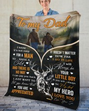 """It's Not Easy For A Man To Raise A Child To Dad Fleece Blanket - 50"""" x 60"""" aos-coral-fleece-blanket-50x60-lifestyle-front-02"""