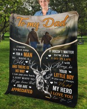 """It's Not Easy For A Man To Raise A Child To Dad Fleece Blanket - 50"""" x 60"""" aos-coral-fleece-blanket-50x60-lifestyle-front-02b"""