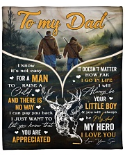 """It's Not Easy For A Man To Raise A Child To Dad Fleece Blanket - 50"""" x 60"""" front"""