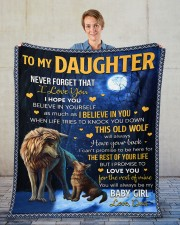 """Never Forget That I Love You Dad To Daughter Fleece Blanket - 50"""" x 60"""" aos-coral-fleece-blanket-50x60-lifestyle-front-01"""