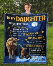 """Never Forget That I Love You Dad To Daughter Fleece Blanket - 50"""" x 60"""" aos-coral-fleece-blanket-50x60-lifestyle-front-01a"""